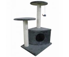 vidaXL Casina ad albero per gatto 70 cm Peluche grigio