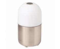 SMOOZ Luce notturna a LED / Lampada da tavolo Bean acciaio satinato