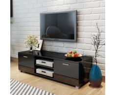 vidaXL Mobile TV Nero Laccato Lucido 140x40,3x34,7 cm