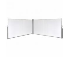 vidaXL Tenda da sole laterale retrattile 160x600 cm crema