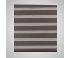 vidaXL Tenda a rullo zebra 50 x 100 cm caffè