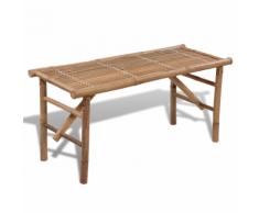 vidaXL Panchina pieghevole in legno di bambù