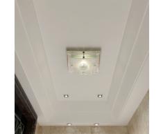vidaXL Lampada da soffitto quadrata in vetro 1 x E27 Cristallo