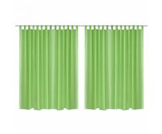 vidaXL Set 2 pz Tenda pura 290 x 175 cm verde