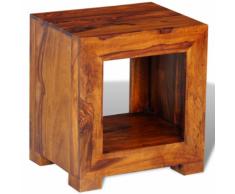 vidaXL Tavolino laterale in legno massello di sheesham 37 x 29 40 cm