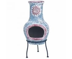 RedFire Caminetto Colima in Argilla Color Blu Marino/Rosso 86031