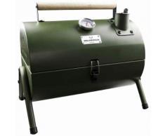 Gusta Barbecue a Carbonella e Affumicatore 2 in 1 Verde 03251040