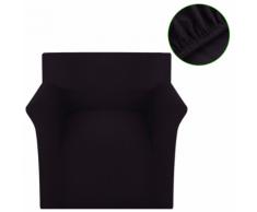 vidaXL Copridivano Fodera divano elastica maglia poliestere marrone