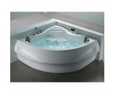 Beliani Vasca idromassaggio angolare da interno - spa MONACO