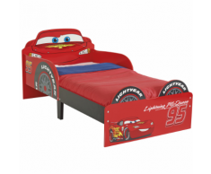 Disney Letto per Bambini Cars Saetta McQueen 143x64x77 cm Rosso WORL320010