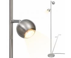 vidaXL Lampada da terra a LED con 2 luci paralumi sferici