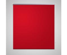 vidaXL Tenda a rullo oscurante buio totale 120 x 175 cm rossa