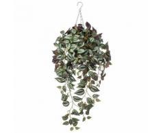 Emerald Tradescantia Artificiale Pianta Sospesa 2 Toni di Viola 420847