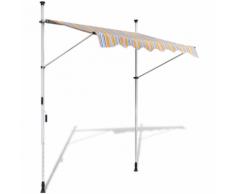 vidaXL Tenda da Sole a Scomparsa 150 cm ad Azionamento Manuale Giallo/Blu