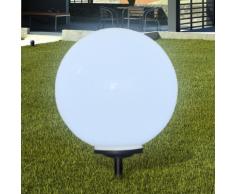 vidaXL Lampione solare a LED da giardino 50cm 1pz con picchetto