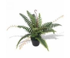 vidaXL Felce Pianta Artificiale con Vaso 50 cm Verde