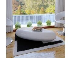 vidaXL Tavolino in fibra di vetro bianco