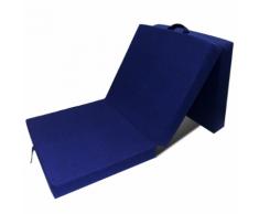 vidaXL Materasso di Schiuma Pieghevole 190 x 70 9 cm Blu