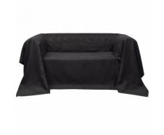 vidaXL Fodera per divano in micro-camoscio antracite 210 x 280 cm