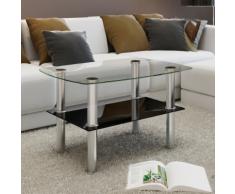 vidaXL Tavolino da caffè vetro 2 livelli