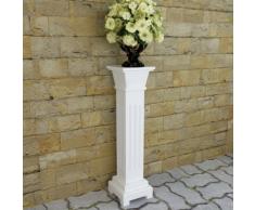 vidaXL Supporto piante forma pilastro classico quadrato MDF