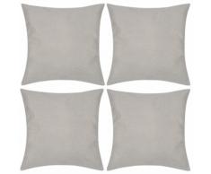vidaXL 4 federe in lino beige 80 x cm