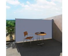 vidaXL Patio Laterale Retrattile Protezione Tenda da Sole 180 x 300 cm Grigio