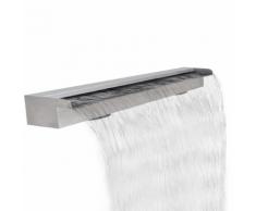 vidaXL Fontana a cascata da giardino rettangolare acciaio inossidabile 120 cm