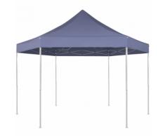 vidaXL Gazebo pieghevole esagonale pop-up blu scuro 3,6x3,1 m