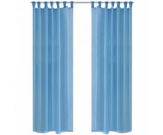 vidaXL Tenda Trasparente Colore Turchese 140 x 225 cm 2 pezzi