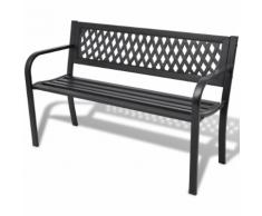 vidaXL Panchina da giardino nera in acciaio