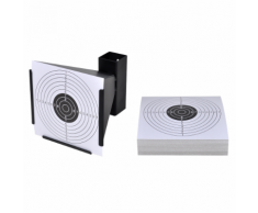 vidaXL Supporto tiro bersaglio a forma di imbuto 14 cm + 100 bersagli carta