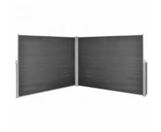 vidaXL Tenda da sole laterale retrattile 180x600 cm nera