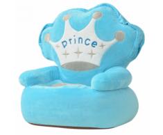 vidaXL Poltrona Imbottita per Bambini Principe Blu