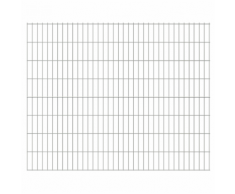 vidaXL Pannelli recinzione giardino 2D 2008x1630 mm 4 m argento