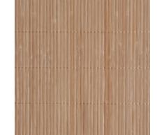 vidaXL Carta da parati in bambù 1,5 x 5 m marrone