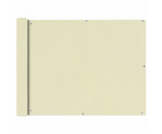 vidaXL Tenda da sole per balcone in tessuto Oxford 90 x 400 cm crema