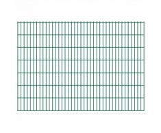 vidaXL 2D Pannello di Recinzione Giardino 2008x1430 mm 28 m Verde