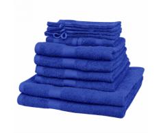 vidaXL Set 12 pz Asciugamani cotone 100% 500 gsm blu reale