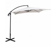 vidaXL Ombrellone parasole cantilever Banana bianco sabbia 2,5x2,5 m