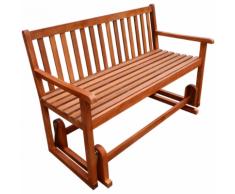 vidaXL Panchina a dondolo da giardino in legno di acacia