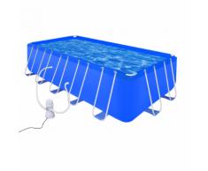 vidaXL Piscina con Pompa Acciaio filtro 540 x 270 122 cm