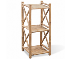 vidaXL Scaffale a 3 piani in legno di bambù
