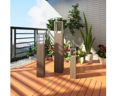 vidaXL Set 3 pz Supporto candela da giardino Torcia per illuminazione esterna