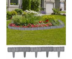vidaXL Set 41 pz Recinzione giardino/prato in plastica imitazione pietra 10 m