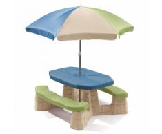 Step2 Tavolo da picnic per bambini con ombrellone Aqua 843800