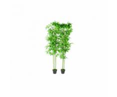 vidaXL Piante ornamentali da interno set di 2 bambù 190 cm