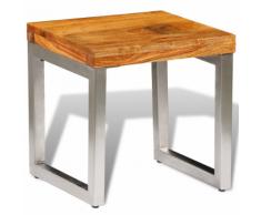 vidaXL Tavolino caffè in legno massello di sheesham