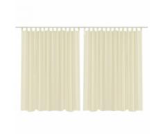 vidaXL Set 2 pz Tenda pura 290 x 175 cm beige