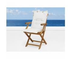 Beliani Cuscino da esterno - Per sedia Britannia Beige